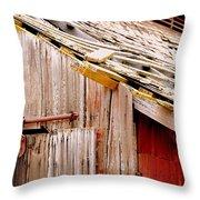 Old Barn Close Throw Pillow