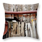 Old Barn Door Detail Throw Pillow