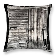 Old Barn Door Throw Pillow