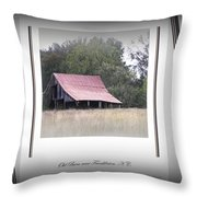 Old Barn - Edge Of The Field Throw Pillow