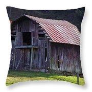 Old Barn In Etowah Throw Pillow