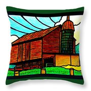 Old Barn On Keezletown Road Throw Pillow