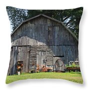 Old Barn South Of Brevard Throw Pillow
