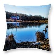 Old Barn Walpack Nj Throw Pillow