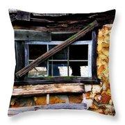 Old Barn Window 2 Throw Pillow