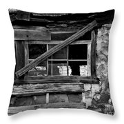 Old Barn Window Throw Pillow