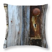 Old Blue Door 1 Throw Pillow