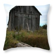 Old Boat House Throw Pillow