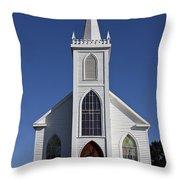 Old Bodega Church Throw Pillow