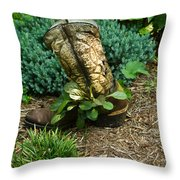 Old Boot 1 Throw Pillow