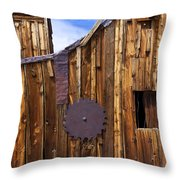 Old Building Bodie Ghost Town Throw Pillow by Garry Gay
