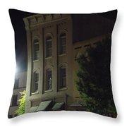 Old Building In Calhoun Ga Throw Pillow