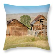 Old Building Woodruff Utah Throw Pillow