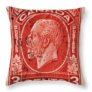 old Canadian postage stamp Throw Pillow