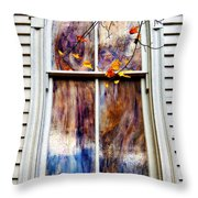 Old Carpenter Gothic Style Church Window In Wv Fall Throw Pillow