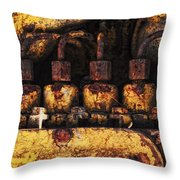 Old Cat In The Woods Throw Pillow