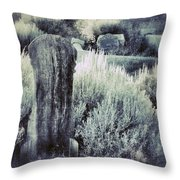 Old Cemetery On A Hill Throw Pillow