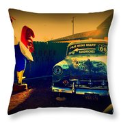 Old Chevrolet On Route 66 Throw Pillow