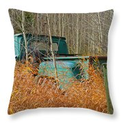 Old Chevy In The Field Throw Pillow