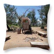 Old Chuck Wagon Throw Pillow