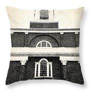 Old Church In Boston Throw Pillow