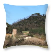 Old Church Near Montelupo Throw Pillow