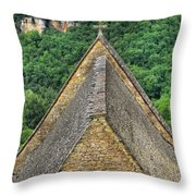 Old Church View Dordogne France Throw Pillow