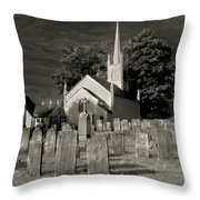Old Church Yard Throw Pillow