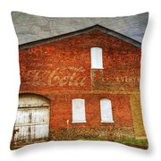 Old Coca Cola Building Throw Pillow