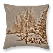 Old Country Christmas Throw Pillow