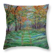 Old Country Road Throw Pillow