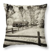 Old Country Saw-mill - Toned Throw Pillow
