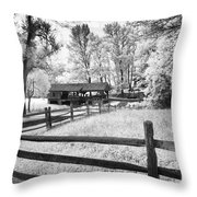 Old Country Saw-mill Throw Pillow