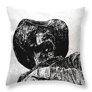 Old Cowboy Throw Pillow