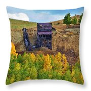 Old Cripple Creek Mine Throw Pillow