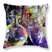 Old Decanters Throw Pillow