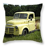Old Dodge In Mo Throw Pillow