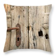 Old Door In Sebastia Throw Pillow