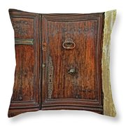 Old Door Study Provence France Throw Pillow