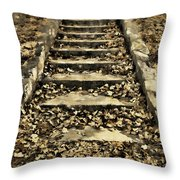 Old Dried Leaves Throw Pillow
