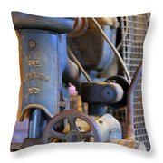 Old Drill Press Throw Pillow