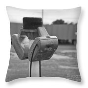 Old Drive-in Bw Throw Pillow