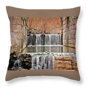 Old Erie Canal Locks Throw Pillow