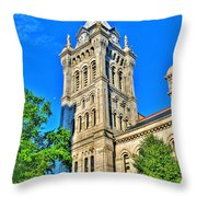 Old Erie County Hall Throw Pillow