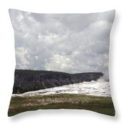 Old Faithful At Rest Throw Pillow