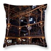 Old Faithful Inn Throw Pillow