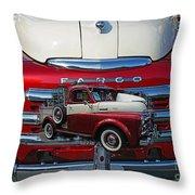 Old Fargo Pick Up Truck Throw Pillow