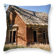 Old Farm Homestead - Woodland - Utah Throw Pillow