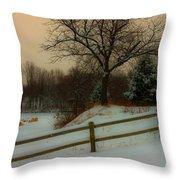 Old Fashiion Winter Throw Pillow