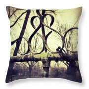Old Fence Detail Throw Pillow